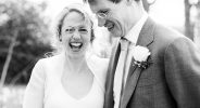 114 Giggly, lively wedding portrait Surrey